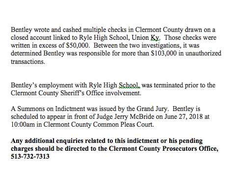 Teacher Indicted by the Grand Jury | Clermont County Sheriff